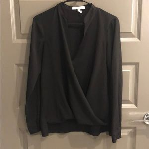 BCBGeneration Cross Front Blouse Black Size Small